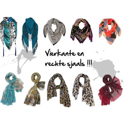 Vierkante sjaal knopen