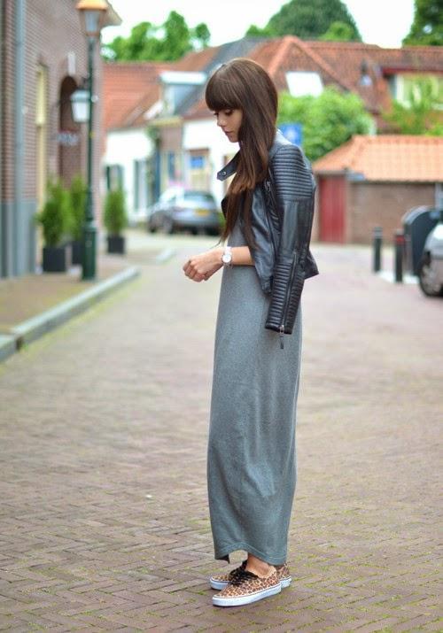 Outfit met lange rok