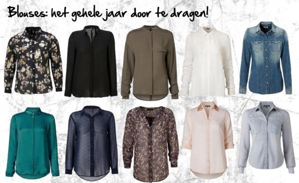 Lookbook week 1 budget look blouses