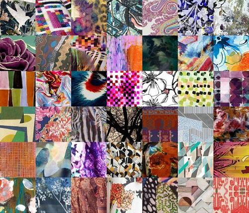 moodboard met prints en kleuren2